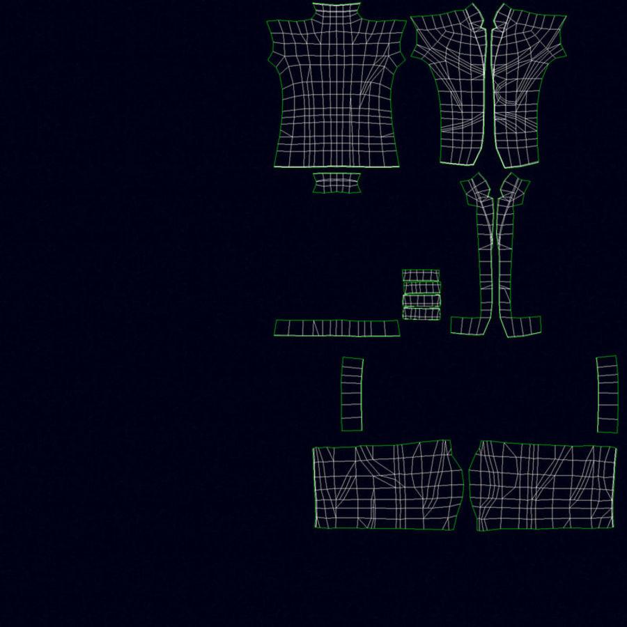 Szczupły mężczyzna royalty-free 3d model - Preview no. 28