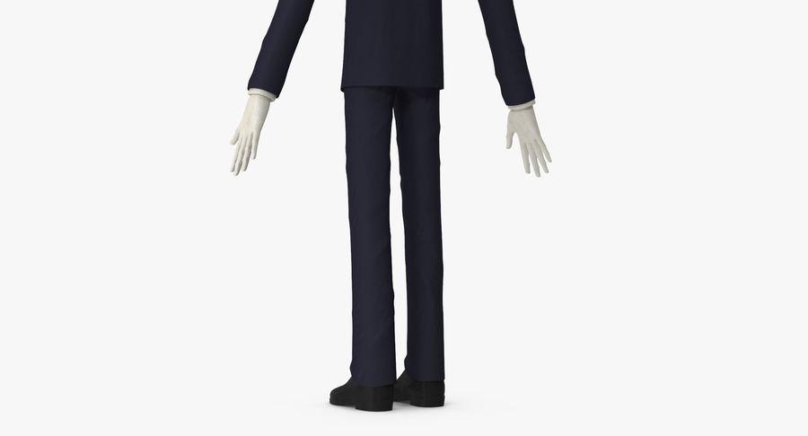 Szczupły mężczyzna royalty-free 3d model - Preview no. 16