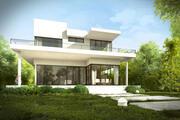 Modernt hus exteriör med trädgård och interiörer för Maya och 3dsmax 3d model