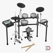 Elektronische drumkit 3D-modellen Set 3d model