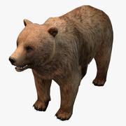 Низкополигональный медведь 3d model