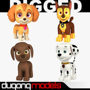 Paw Patrol Dog Collection 3d model