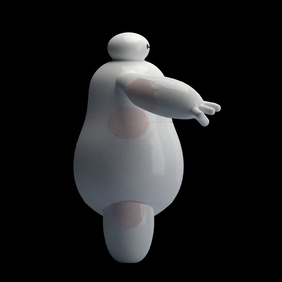 baymax royalty-free 3d model - Preview no. 3