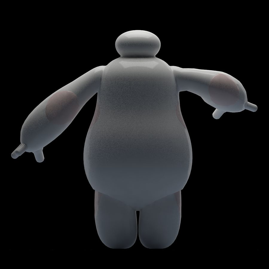 baymax royalty-free 3d model - Preview no. 5