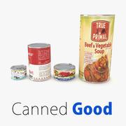 Supermarket Canned Foods 3d model