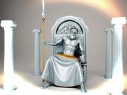 古代の神の像 3d model