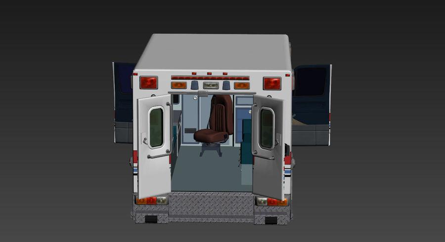Ambulance royalty-free 3d model - Preview no. 5