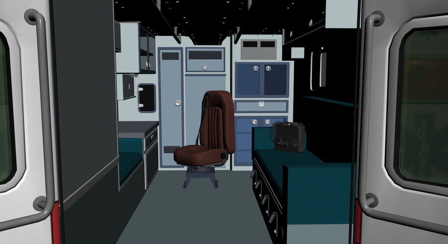 Ambulance royalty-free 3d model - Preview no. 10