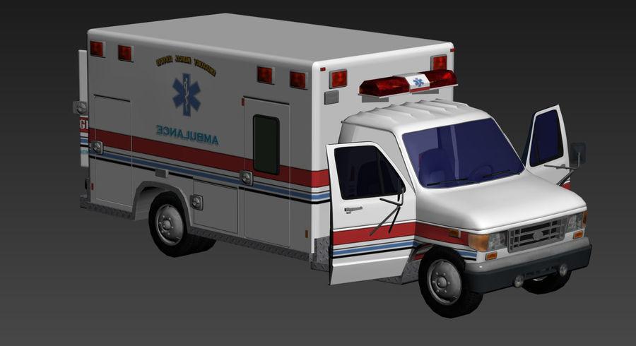 Ambulance royalty-free 3d model - Preview no. 17