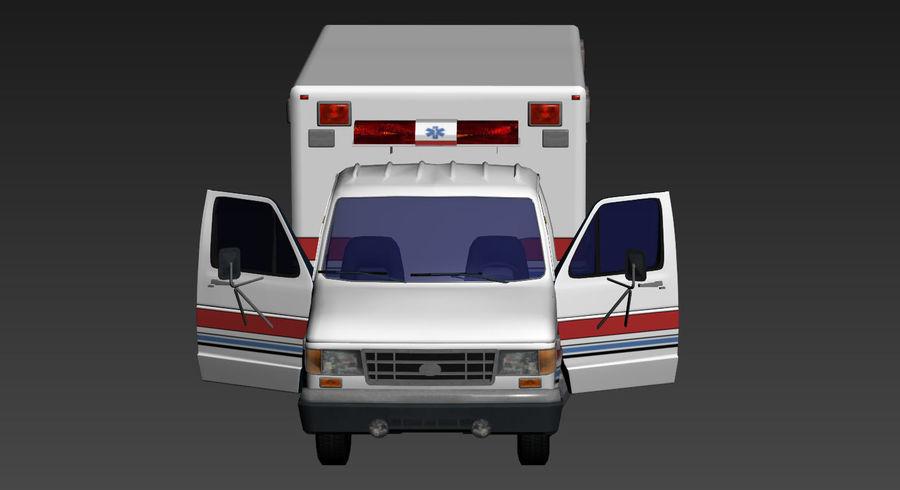 Ambulance royalty-free 3d model - Preview no. 9