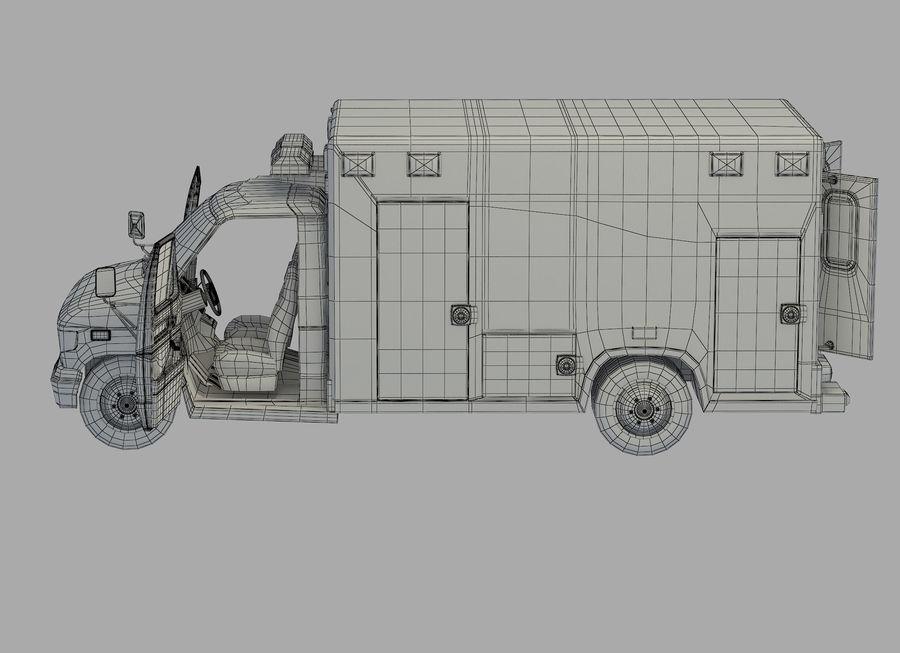 Ambulance royalty-free 3d model - Preview no. 25