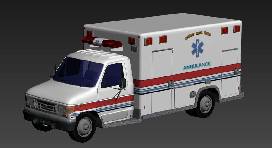 Ambulance royalty-free 3d model - Preview no. 1