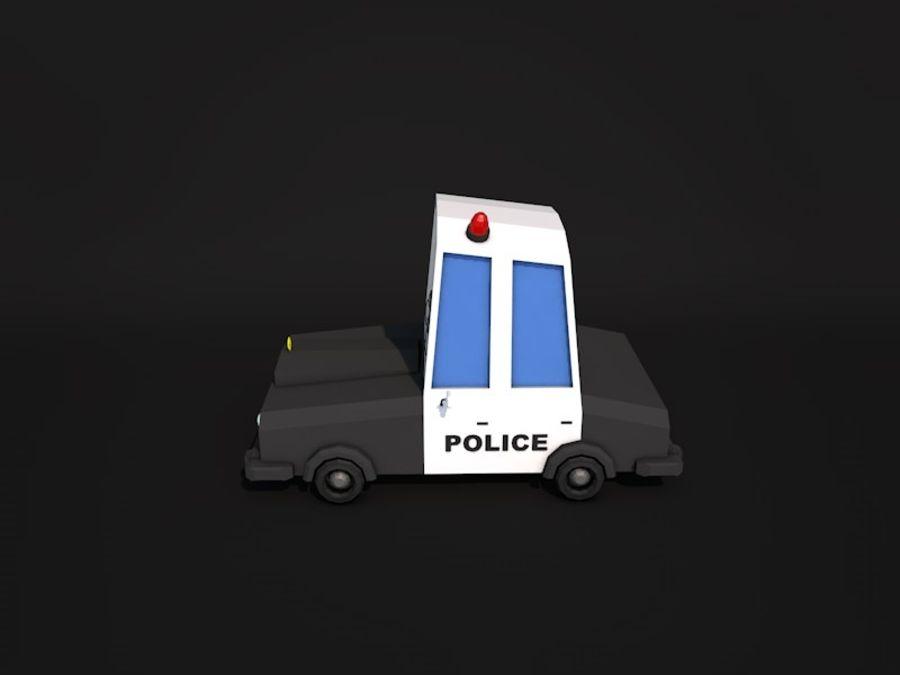 Samochód policyjny Low Poly 2 royalty-free 3d model - Preview no. 2