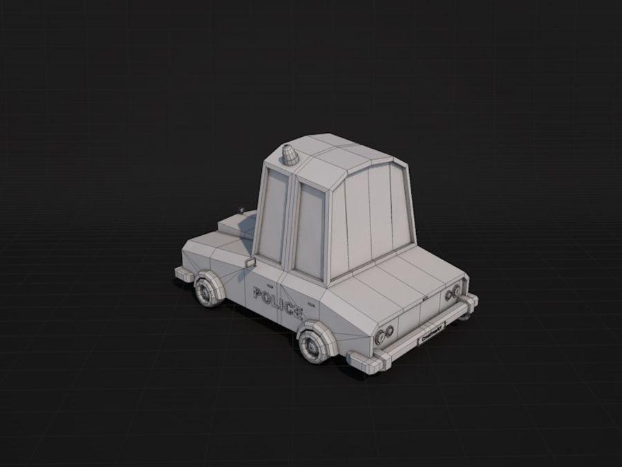 Samochód policyjny Low Poly 2 royalty-free 3d model - Preview no. 8