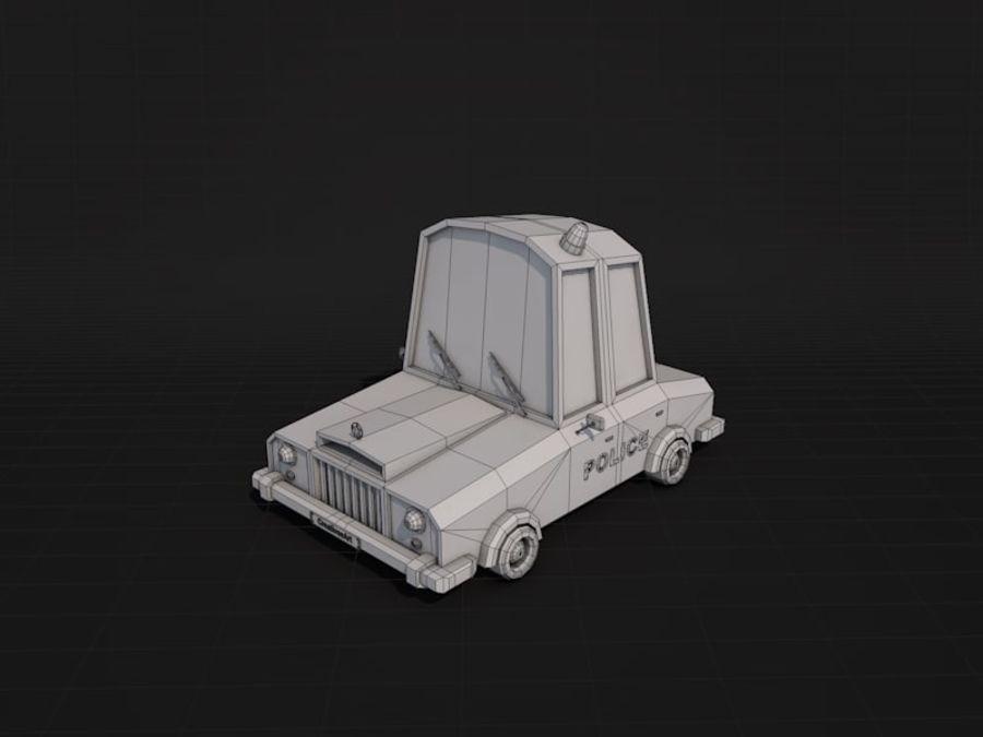 Samochód policyjny Low Poly 2 royalty-free 3d model - Preview no. 6