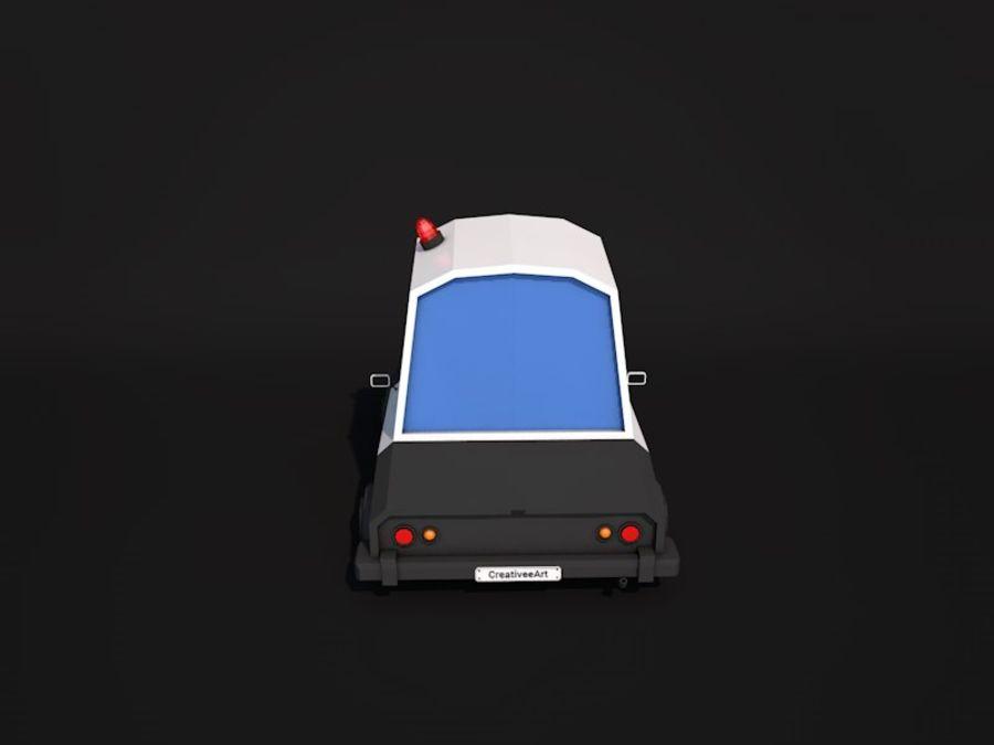 低ポリパトカー2 royalty-free 3d model - Preview no. 4