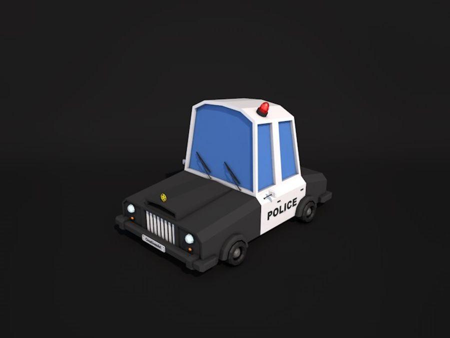 Samochód policyjny Low Poly 2 royalty-free 3d model - Preview no. 1