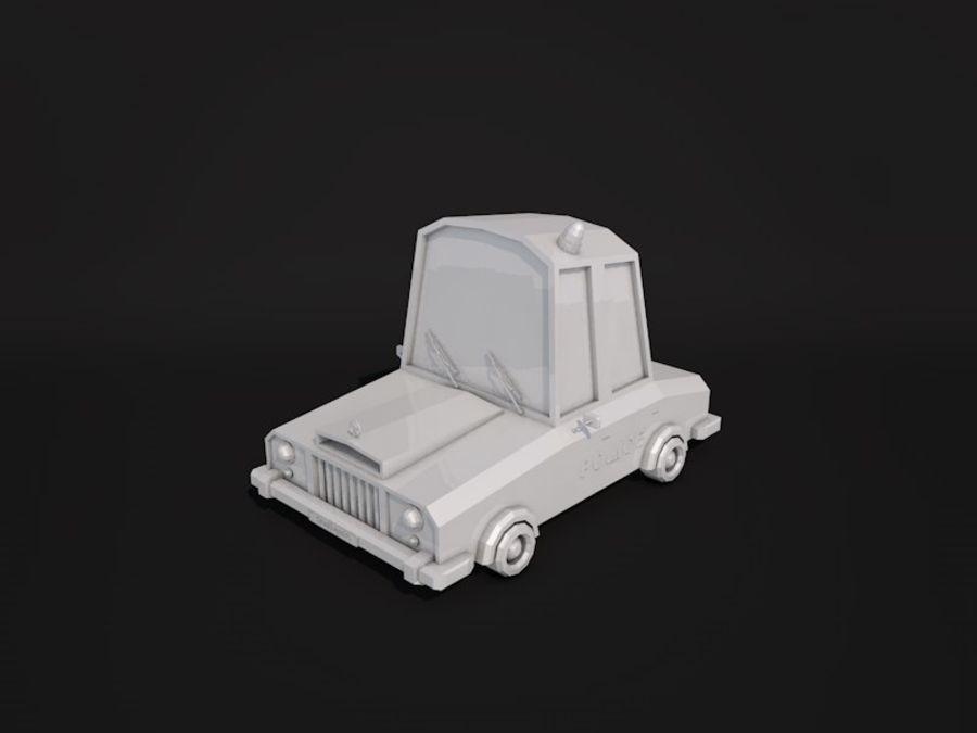 Samochód policyjny Low Poly 2 royalty-free 3d model - Preview no. 5