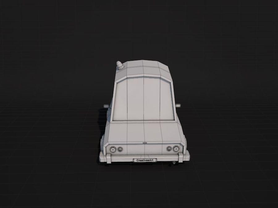 Samochód policyjny Low Poly 2 royalty-free 3d model - Preview no. 9