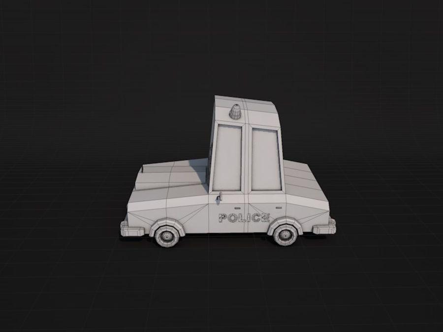 Samochód policyjny Low Poly 2 royalty-free 3d model - Preview no. 7