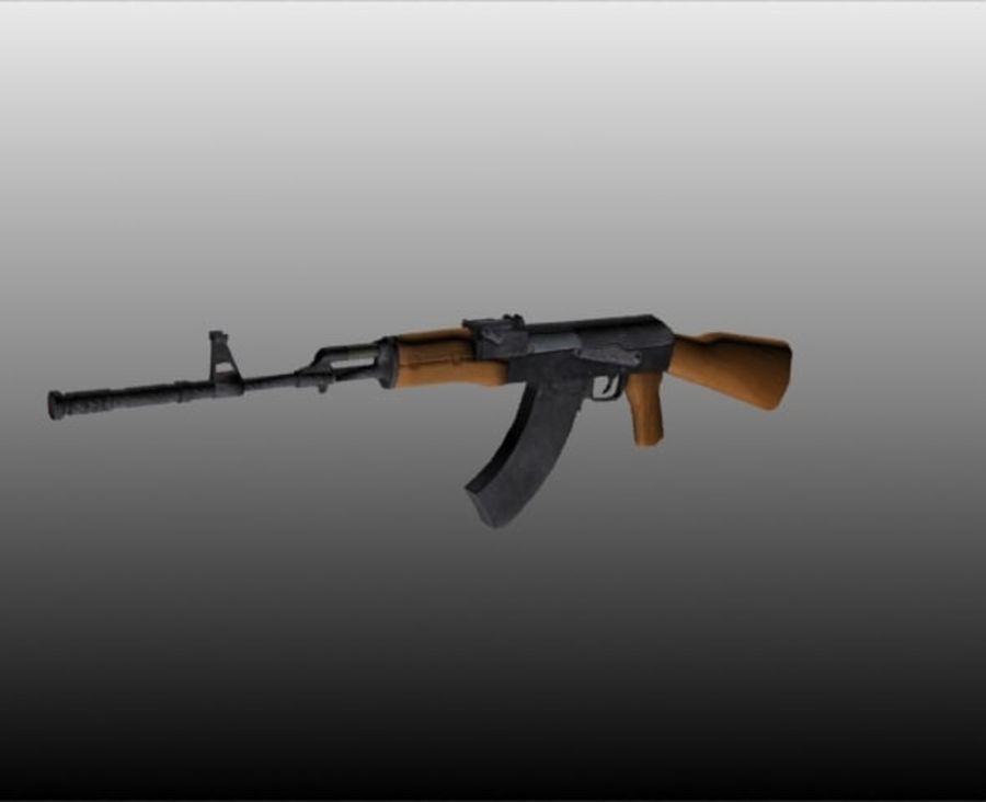 AK47枪 royalty-free 3d model - Preview no. 4