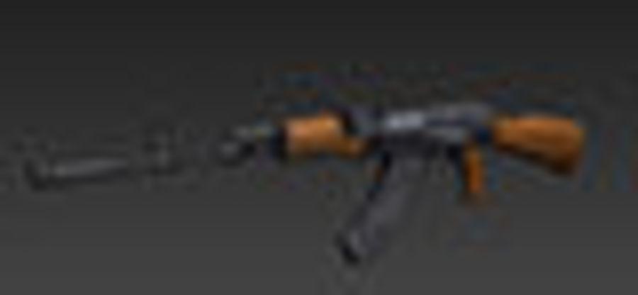 AK47枪 royalty-free 3d model - Preview no. 5