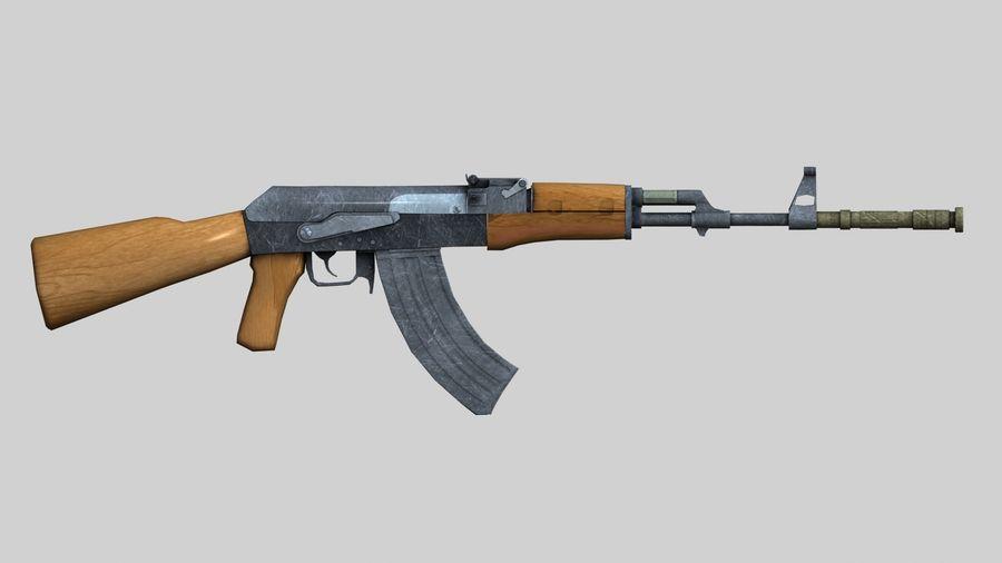 AK47枪 royalty-free 3d model - Preview no. 3