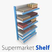 슈퍼마켓 선반 COLELCTION 1 3d model