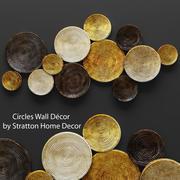 Decoração de parede de círculos 3d model
