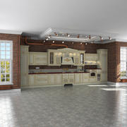 Mutfak iç loft iç sahne, Aran, Provenzale 3d model