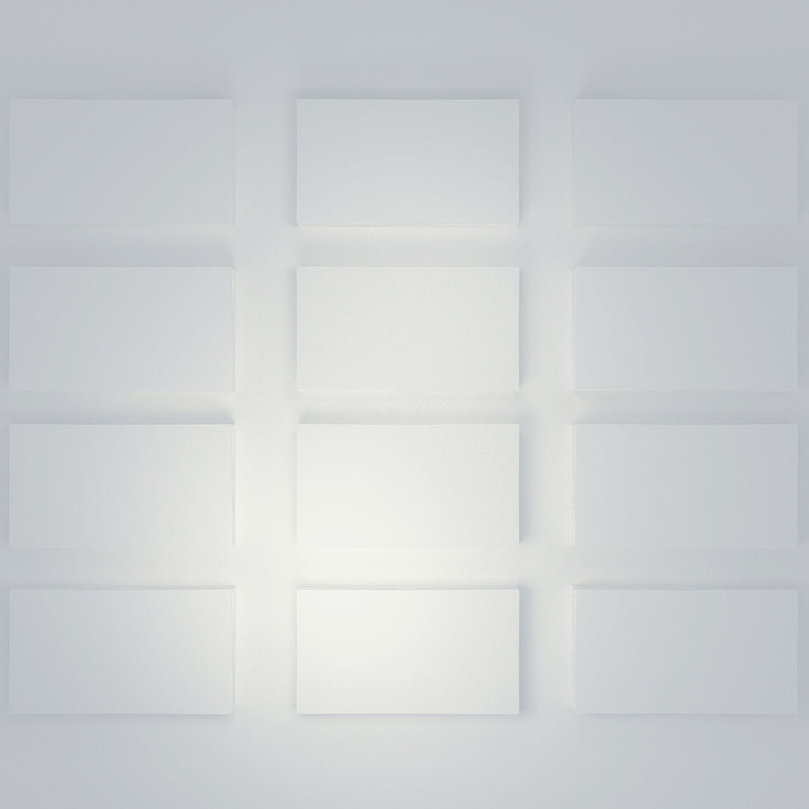 wizytówka 50x90 royalty-free 3d model - Preview no. 5