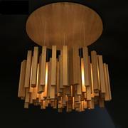 чердак лампа деревянный дождь 3d model