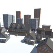Stadsbyggnader 3d model
