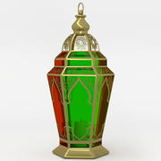 Arabic lantern fanoos tricolor 3d model