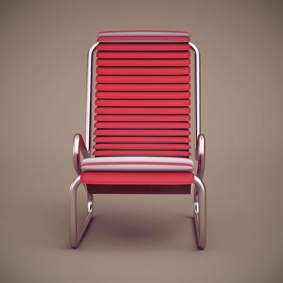 Busnelli Armadillo fauteuil royalty-free 3d model - Preview no. 4