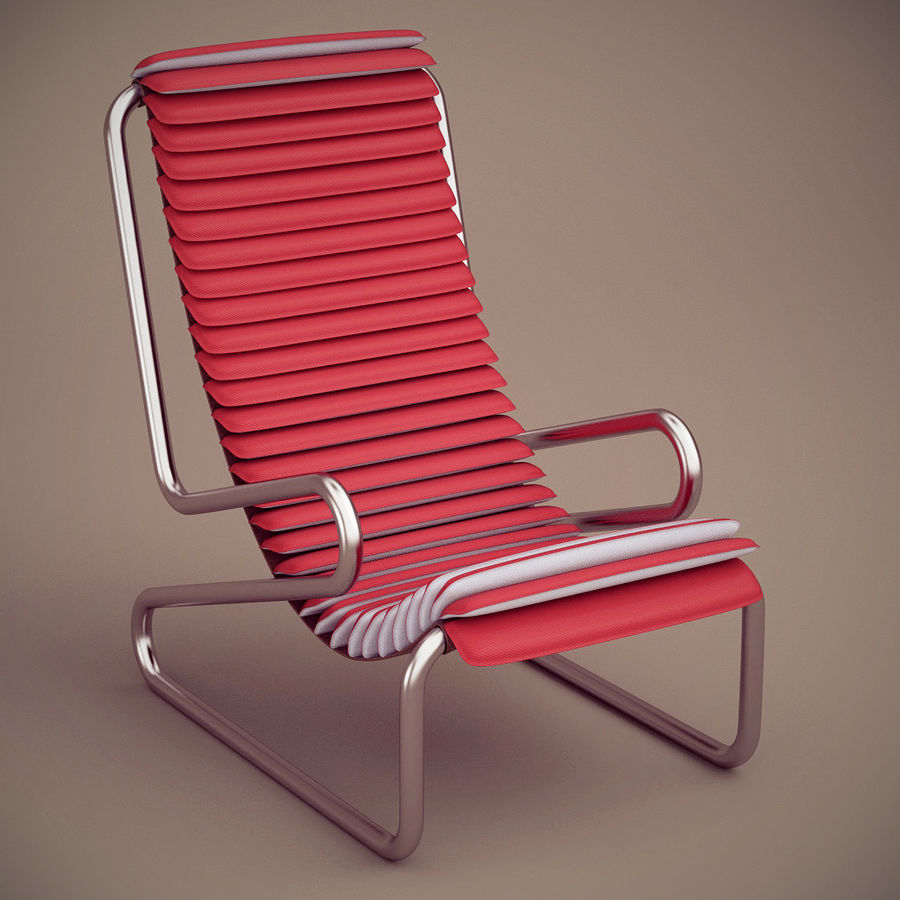 Busnelli Armadillo fauteuil royalty-free 3d model - Preview no. 2
