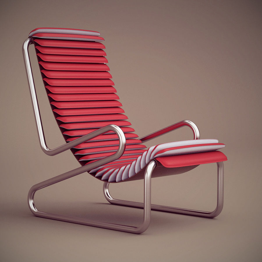 Busnelli Armadillo fauteuil royalty-free 3d model - Preview no. 1