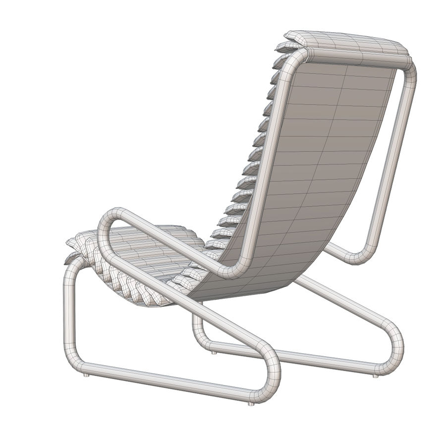 Busnelli Armadillo fauteuil royalty-free 3d model - Preview no. 7