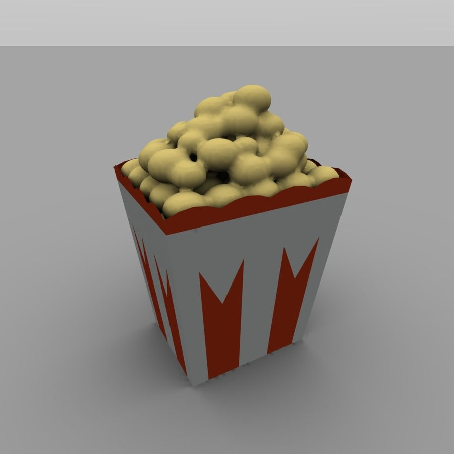 Kino Popcorn royalty-free 3d model - Preview no. 5