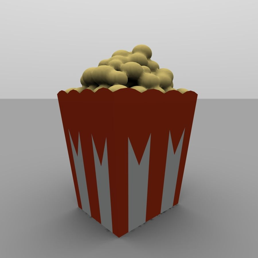 Kino Popcorn royalty-free 3d model - Preview no. 7