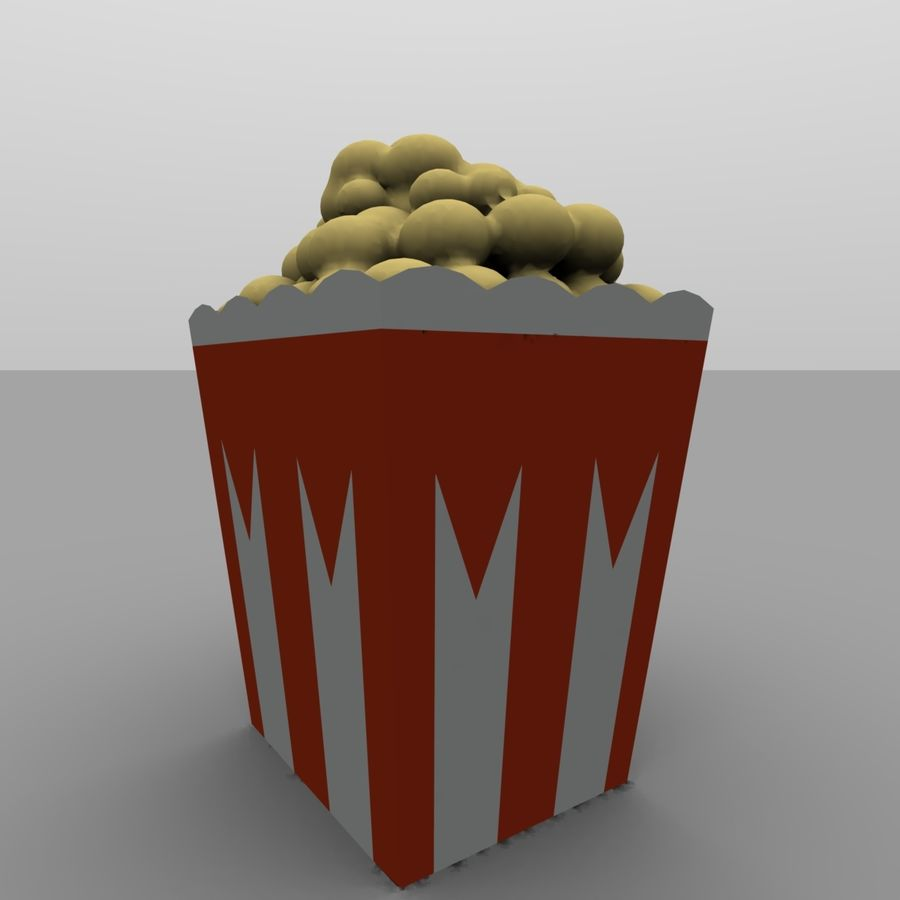 Kino Popcorn royalty-free 3d model - Preview no. 2