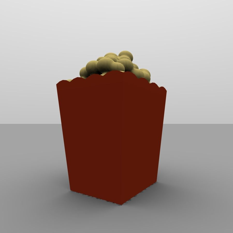 Kino Popcorn royalty-free 3d model - Preview no. 4