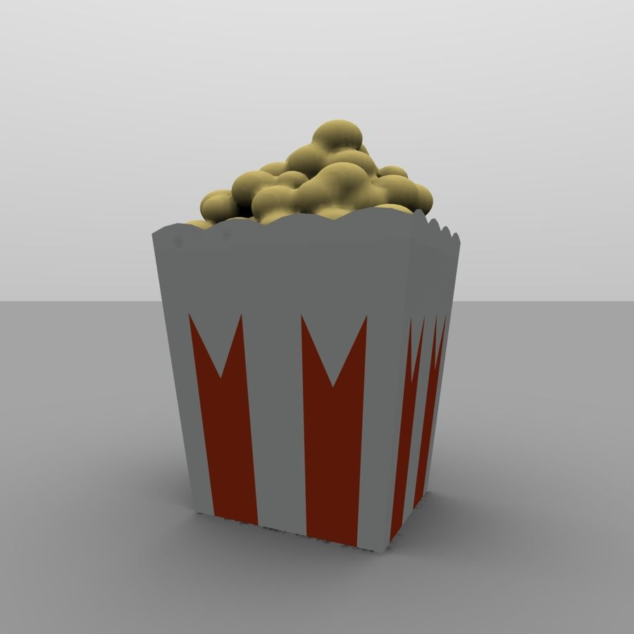 Kino Popcorn royalty-free 3d model - Preview no. 6
