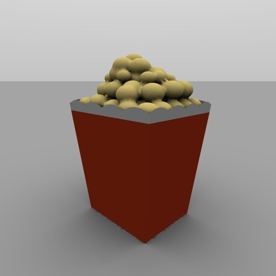 Kino Popcorn royalty-free 3d model - Preview no. 3