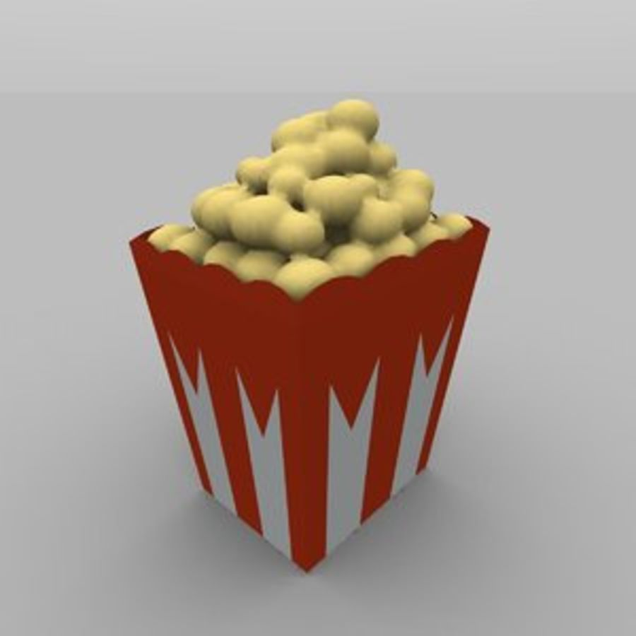 Kino Popcorn royalty-free 3d model - Preview no. 1