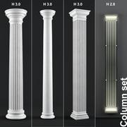 Column set 3d model