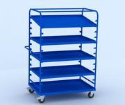 Adjustable portable cart 3d model