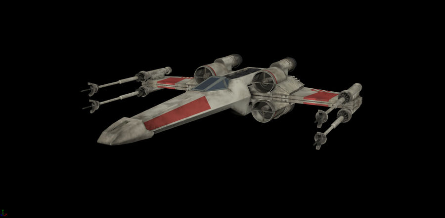X-Wing Rigged royalty-free 3d model - Preview no. 1