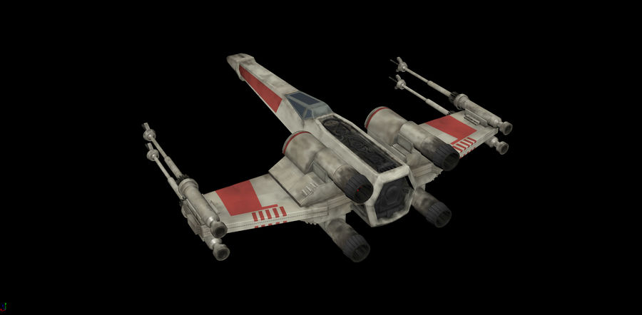 X-Wing Rigged royalty-free 3d model - Preview no. 2