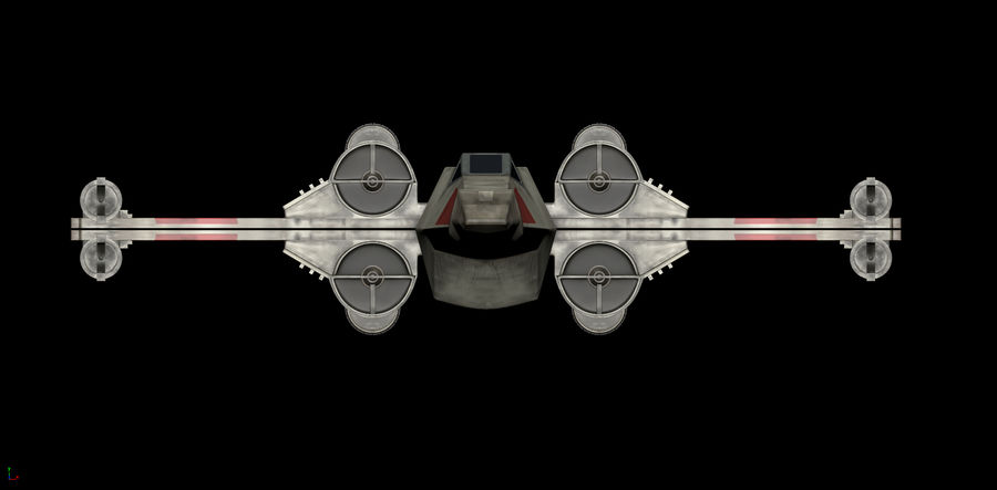 X-Wing Rigged royalty-free 3d model - Preview no. 4